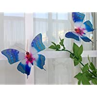 3d butterflies Starburst colourful Natural Butterflies 3D Butterfly Wall Art Flying Removable Butterflies for Home Decorations Wall Art