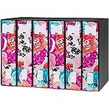 Rexel Dox 50 - Archivador de anillas con palanca (diseño floral, formato A4, 1 unidad), color rosa