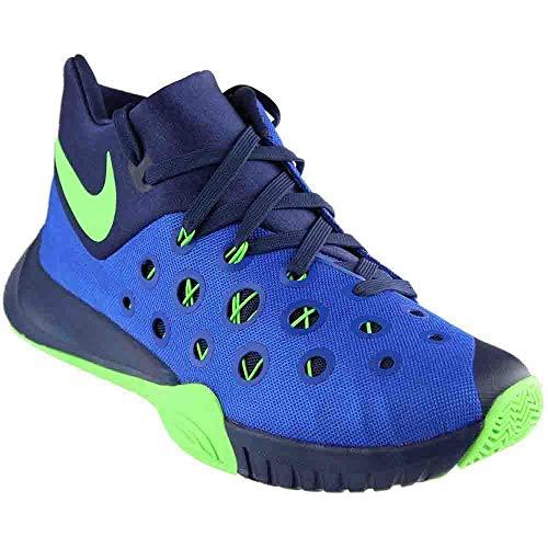 Nike Men's Zoom Hyperquickness 2015 Game Royal/Grn Strike/Mid Nvy Basketball Shoe 9.5 Men US