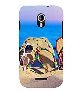 Fuson Designer Back Case Cover for Micromax Canvas Magnus A117 :: Micromax A117 Canvas Magnus (Beach sand Goggles Stylish Flipflops)