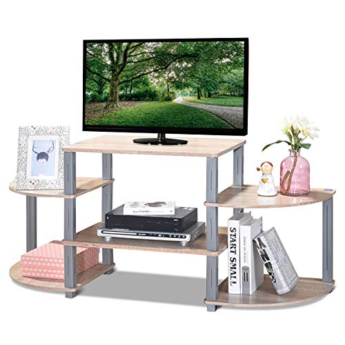 Meuble TV Meuble pour Télévision Table Basse en Bois de MDF P2 Couleur de Chêne 128,6 x 39,5 x 56,85 cm de Salon