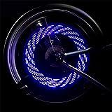 Lmeno Blau Fahrrad Speichenlicht Speichenreflektor Super Bright LED Fahrrad sprach Lichter Wasserdicht 4 Farbmuster Radfahren Rad Reifen Ventil Lichter Speiche Reifendraht Blitz Neonlicht Speichen Licht Lampe Blinker Beleuchtung Sicherheit Signal lights