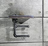 DONG Ripostiglio Ripostiglio Sedile WC Rubinetteria Portasciugamani Sedile wc in ferro Appeso a parete Bagno Nero 11.8 * 5.9 * 11.8in