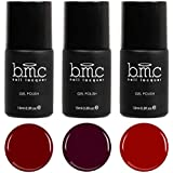 BMC 3pc Red and Purple Gel Lacquer Polish Set - Femme Fatale Collection