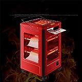 Heizlüfter Grill Heizung Heizung Grill Typ Home Dämpfer Vier Kleine Sonnenofen Elektroheizung, Red, small