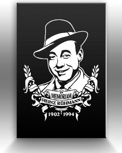 In Memoriam HEINZ RUEHMANN limitierter Designer Leinwanddruck, weiss, Größe 60x90cm (Richter Stuhl)