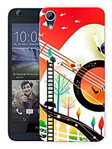 """Humor Gang Abstract Art Printed Designer Mobile Back Cover For """"HTC DESIRE 626"""" (3D, Matte Finish, Premium Quality, Protective Snap On Slim Hard Phone Case, Multi Color)"""