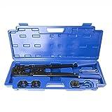 IWISS IWS-1632B Presszange für Pex-Al-Pex Rohr, Mehrschichtverbundrohr, Alu-Verbundrohr mit 16,20,25,32mm TH Kontur- in praktischem Kunststoffkoffer