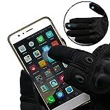 OMGAI Männer Voller Finger Militärische Taktische Handschuhe Des Harten Knöchel Mit Klettverschluss für Airsoft Armee Paintball Motorrad Outdoor Sport Schwarz XL - 2