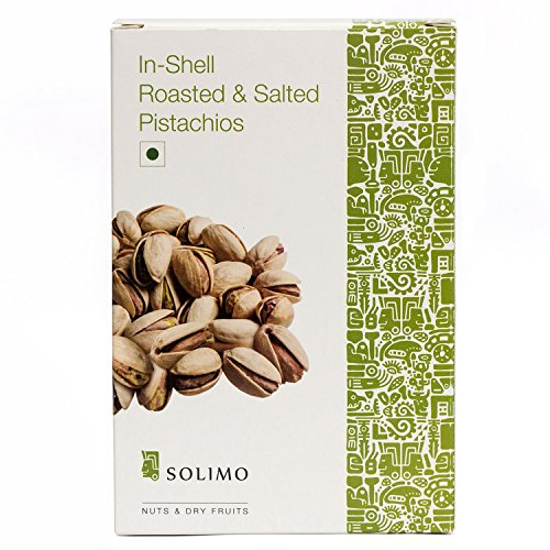 Solimo Roasted and Salted Pistachios, 250g For Rs. 365