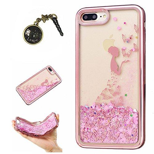 Preisvergleich Produktbild Laoke für Apple iPhone 7 Plus (5.5 Zoll) Hülle Schutzhülle Handy TPU Silikon Hülle Case Cover Durchsichtig Gel Tasche Bumper ( + Stöpsel Staubschutz) (5)