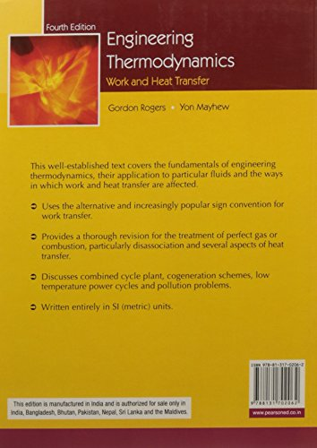 Engineering Thermodynamics: Work and Heat Transfer, 4e