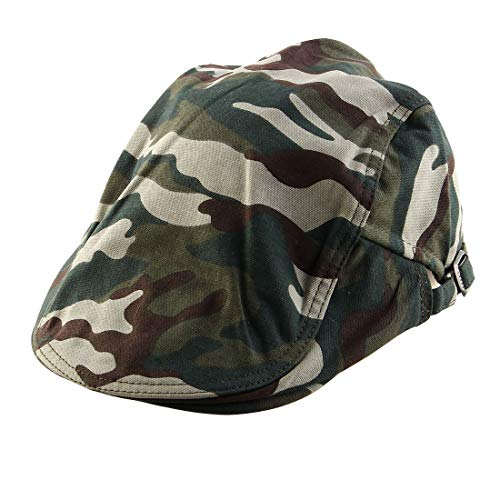 Ivy Golf Cap (ZCHXD Men Women Summer Sun Vintage Style Newsboy Duckbill Ivy Cap Cabbie Driving Golf Casual Flat Camouflage Beret Hat)