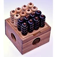 Vier-in-einer-Reihe-3D-4×4-3D-Bingo-4×4-Raummhle-Viererreihe-3D-Strategiespiel-Denkspiel-aus-Holz