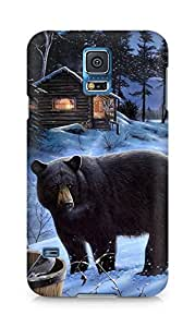 Amez designer printed 3d premium high quality back case cover for Samsung Galaxy S5 (Bear)