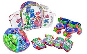 PJ Masks- Set con Mochila, Mini Roller, Casco y Protecciones (Amijoc Toys 2939)