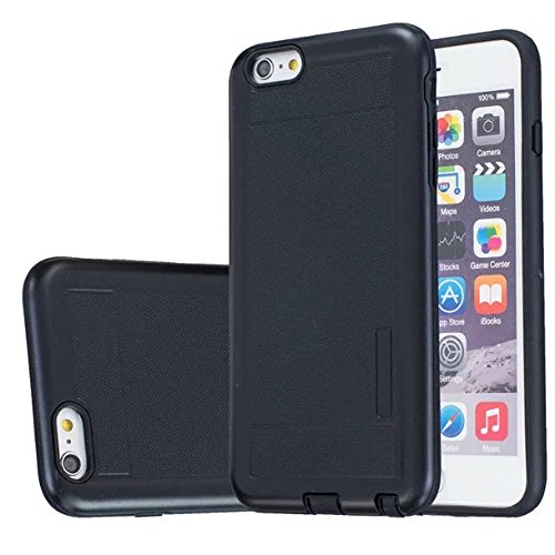 JIALUN-Telefon Fall Solid Color Shock Back Cover Telefon Fall für Apple IPhone 6S Plus 5,5 Zoll ( Color : Gray ) Black