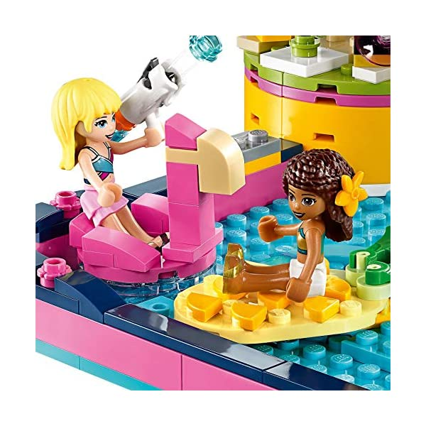 LEGO - Friends La festa in piscina con le Mini-Doll Andrea e Stephanie, DJ Box, Acquario e Pesce, Idea Regalo, 41374 5 spesavip