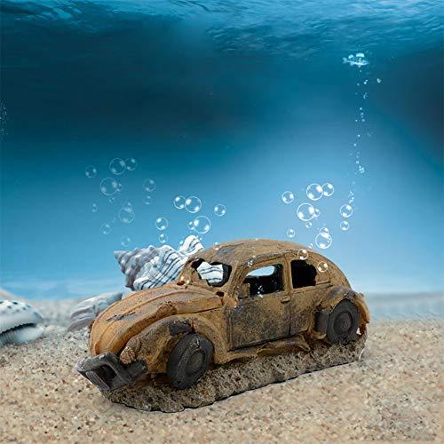 Leoie Sauerstoffpumpe in Auto-Form für Aquarium, Dekoration