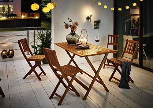 SAM® Gartengruppe Costas, 5tlg., Balkongruppe aus Akazienholz