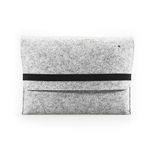 """FORMGUT Laptop-Tasche 14"""" für MacBook Pro Schutzhülle Hülle Filz - Hellgrau Orange"""