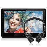 NAVISKAUTO 10,1 HD 1080P Touchscreen Kopfstütze Monitor Auto DVD Player TFT LCD Bildschirm FM HDMI Funktion/ USB/ SD Medien/ Schwarz+Silber Rahmen CH1004S ohne Akku