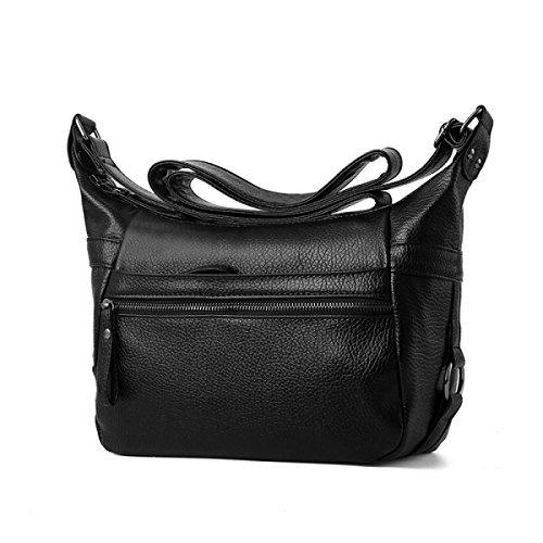 ZPFME Womens Tote Handtasche Weich Lässig Umhängetasche Shopper Leder Party Retro Bankett Verstellbar B