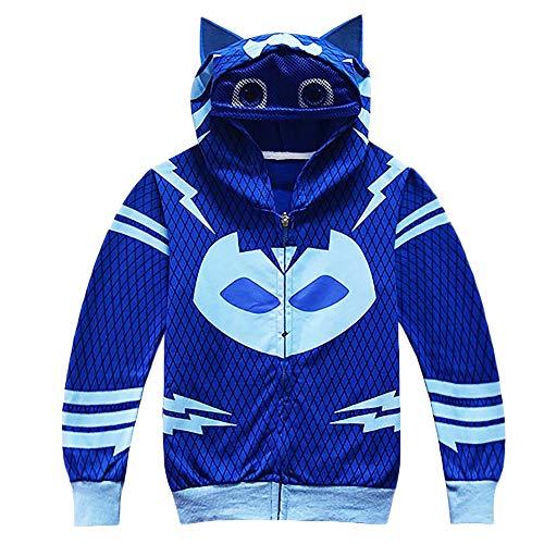 Blauen Tragen Mantel Kostüm Kleinkind - YAGATA Baby Mädchen Jacke Baby Jungen Mantel Kleinkind Mädchen Kapuzenjacke Kapuzenpullover Kostüm mit Kapuze für Kleinkind,Blau,140