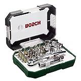 Bosch Schraubendreher-Bit und Ratschen Set Hand Tool Kit, 26Stück