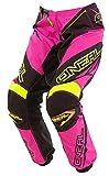 O'Neal Element MX Damen Hose Racewear Pink Gelb Motocross Enduro Offroad Quad Women, 0128-7, Größe 28