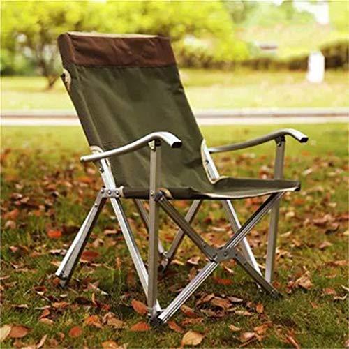 Ultraleichter Klappstuhl aus Aluminium/tragbarer Mittagspause-Stuhl/Sessel/Sessel/Angelstuhl (für Zuhause, Angeln, Camping, Grill)