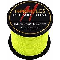 100?m 109yds fluorescente amarillo 6lbs-100lbs Hercules PE l¨ªnea de pesca