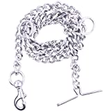 Super Dog Stainless Steel Leash Chain for Pet (Silver)