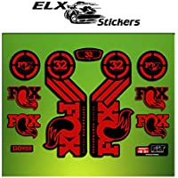 Pegatinas HORQUILLA FORK FOX 32 PERFORMANCE ELX56 STICKERS AUFKLEBER AUTOCOLLANT ADESIVI BICICLETA CYCLE MTB BIKE (ROJO/ RED)