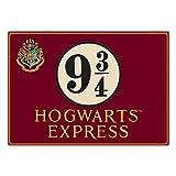 Harry Potter Tin Sign Platform 9 3/4 41 x 30 cm Half Moon Targhe Metallo