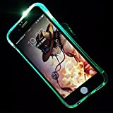 König-Shop Leuchtende Handy-Hülle LED Cover Samsung Galaxy S6 Edge Blau Bumper Case