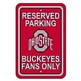 Fremont Die NCAA Ohio State Buckeyes Kunststoff Parken Schild, 30,5x 45,7cm/One Size, Team Farbe