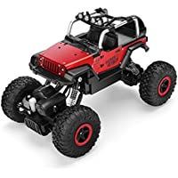 fstgo RC coches 1/18 metal Shell remoto Control off-road vehículos 2.4 GHz 4 WD camiones controlado por radio Rock Monstruo Crawler con luz LED