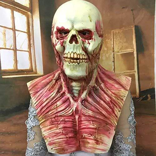 Einfach Mörder Kostüm - Kostümmaske - aus Gummi/Latex, Form eines Pferdekopfs/ Tierkopfs mit Mähne, geeignet für Kostüme