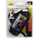PSP3000 - schwarzes Silikon Case und Bildschirmschutz
