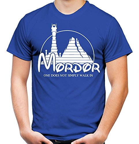 Mordor Männer und Herren T-Shirt | Spruch Vintage Fun Film Geschenk (M, (Gandalf Ideen Kostüme)