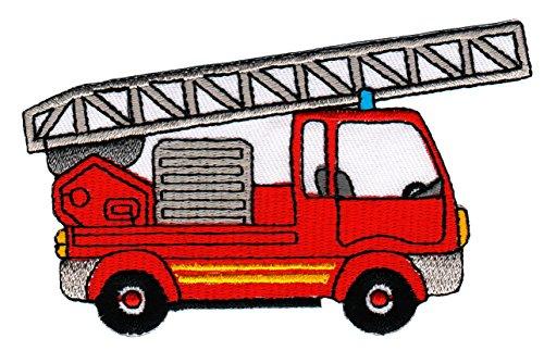 feuerwehrmann sam aufnaeher Patch Feuerwehr Leiterwagen Aufnäher Bügelbild