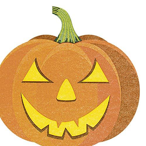 12 Servietten Kürbis Halloween - gestanzt- Silhouette Airlaid 33x33 cm (Kürbis Silhouetten Halloween)