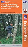 Corby, Kettering and Wellingborough (Explorer Maps) (OS Explorer Map)