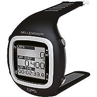 Millenium, Reloj deportivo GPS con correa suave para el pecho y medición de la frecuencia cardíaca, negro / gris