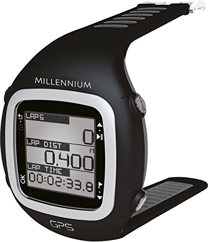 Millennium GPS-Sportuhr mit Soft-Brustgurt und Herzfrequenzmessung (schwarz/grau)