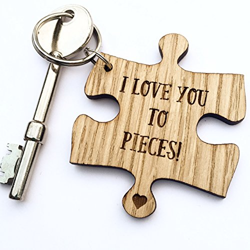 Manta Makes Jigsaw puzzle I LOVE YOU TO PIECES! WOODEN KEYRING