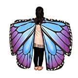 Schal,Sasstaids Kid Baby Girl Butterfly Wings Schal Schals Nymphe Pixie Poncho Kostüm Zubehör