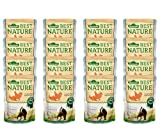 Dehner Best Nature Katzenfutter Adult, Lachs und Huhn, 16 x 85 g (1.36 kg)