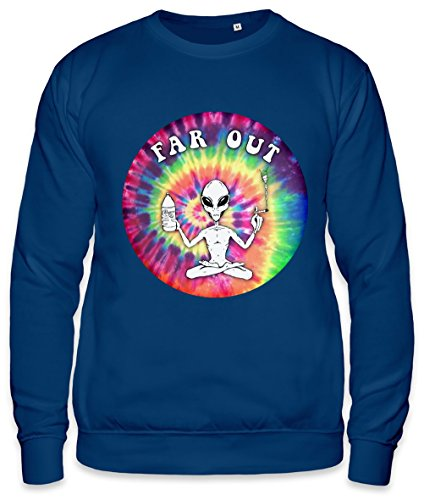 Far Out Alien Hype Psychedelic Peace Punk Indie Unisex Sweatshirt XX-Large